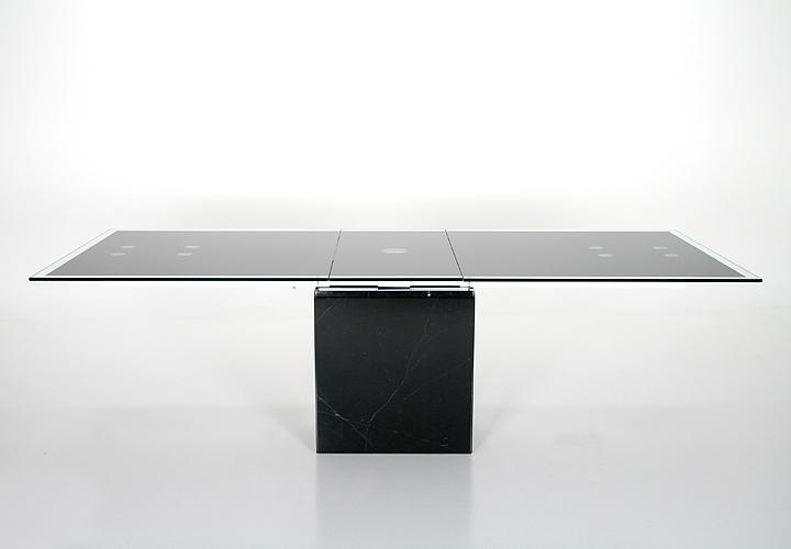 esstisch lazio ausziehtisch glas gestell marmor schwarz. Black Bedroom Furniture Sets. Home Design Ideas