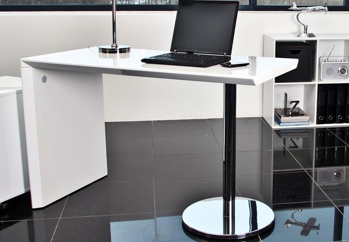 schreibtisch timbo b rotisch in wei hochglanz neu ebay. Black Bedroom Furniture Sets. Home Design Ideas