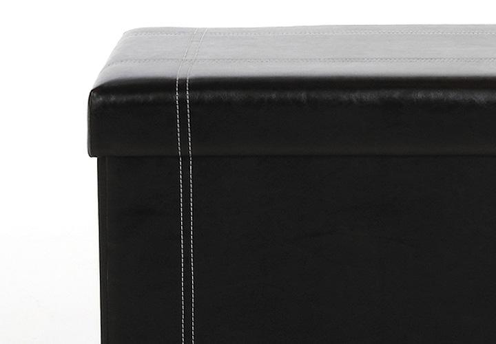 hocker napi lederlook schwarz. Black Bedroom Furniture Sets. Home Design Ideas