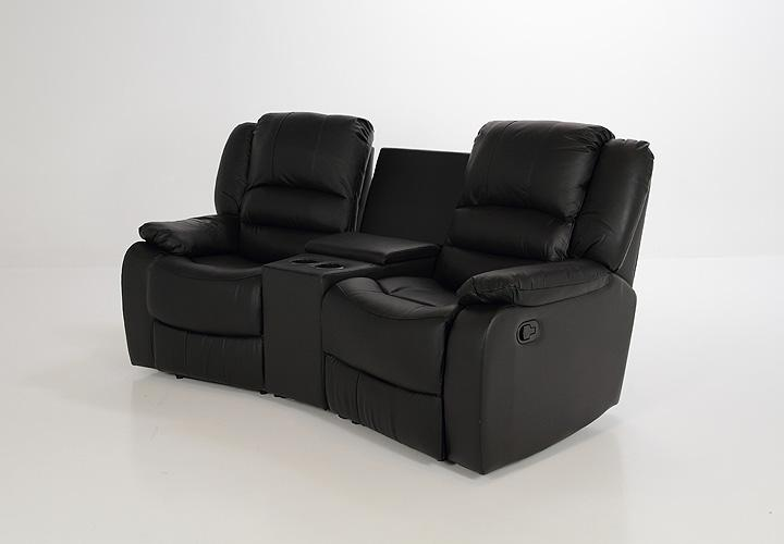 kinosessel skagen sessel sofa in schwarz mit relaxfunktion neu ebay. Black Bedroom Furniture Sets. Home Design Ideas