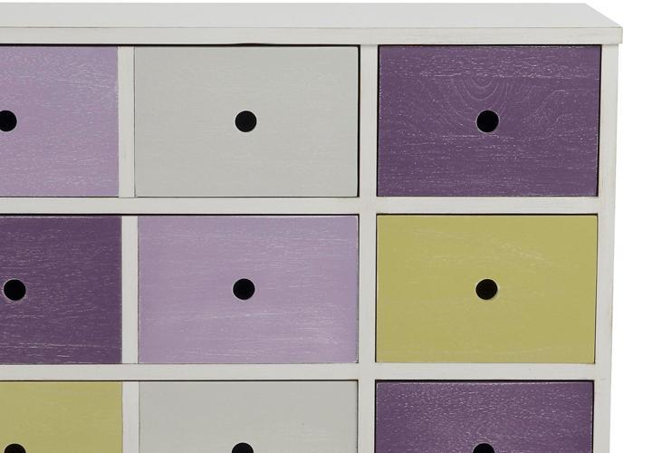 kommode octopus 8 schubk sten mehrfarbig wei und lila. Black Bedroom Furniture Sets. Home Design Ideas