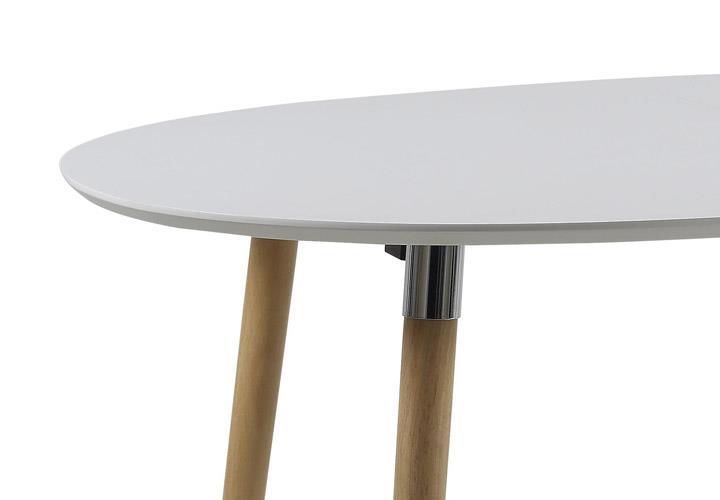 esstisch belina wei lack matt und massiv ausziehbar 170 270. Black Bedroom Furniture Sets. Home Design Ideas
