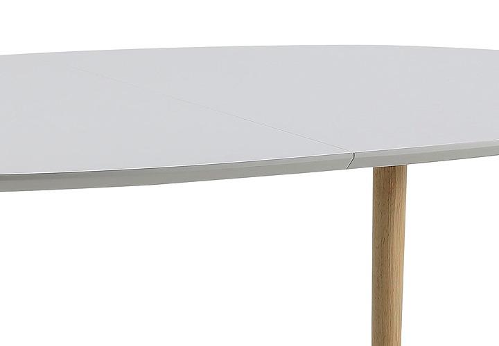 Esstisch belina wei lack matt und massiv ausziehbar 170 270 for Wohnlandschaft 270 cm