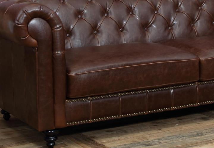 sofa 3 sitzer charlietown antikoptik braun chesterfield stil. Black Bedroom Furniture Sets. Home Design Ideas