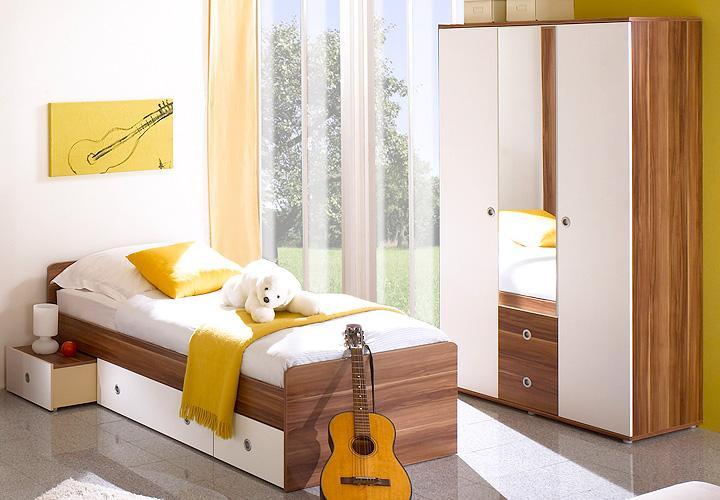jugendzimmer wiki kinderzimmer 7 teilig walnuss und wei. Black Bedroom Furniture Sets. Home Design Ideas