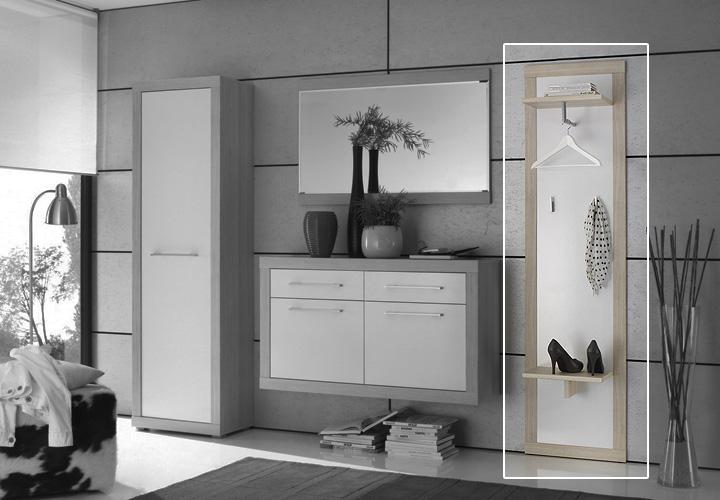 cramo garderobenpaneel sonoma eiche s gerau wei. Black Bedroom Furniture Sets. Home Design Ideas