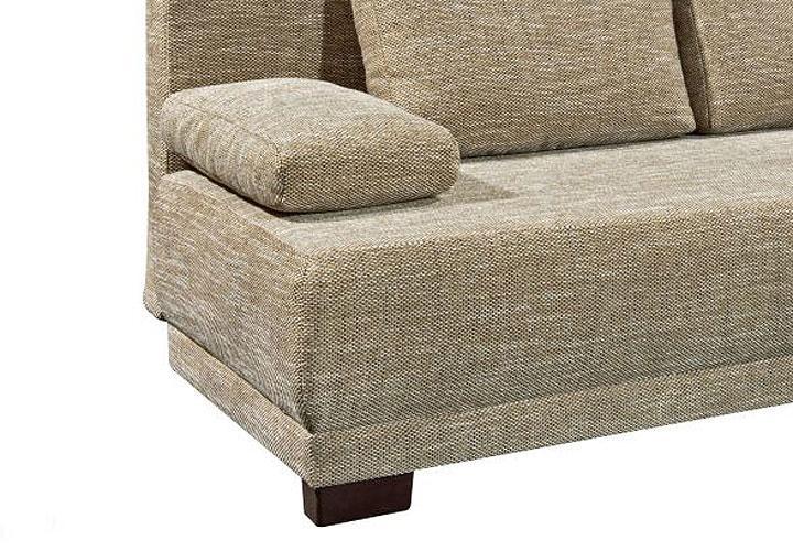 schlafsofa work in webstoff braun funktionssofa bettkasten. Black Bedroom Furniture Sets. Home Design Ideas