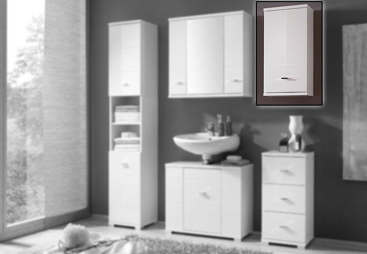 h ngeschrank mogo badezimmerschrank in wei hochglanz. Black Bedroom Furniture Sets. Home Design Ideas