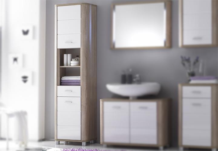 schrank vital sonoma eiche s gerau und wei. Black Bedroom Furniture Sets. Home Design Ideas