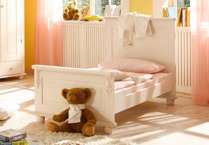 umbauset juniorbett lara ii kiefer massiv wei wachs 70x140. Black Bedroom Furniture Sets. Home Design Ideas