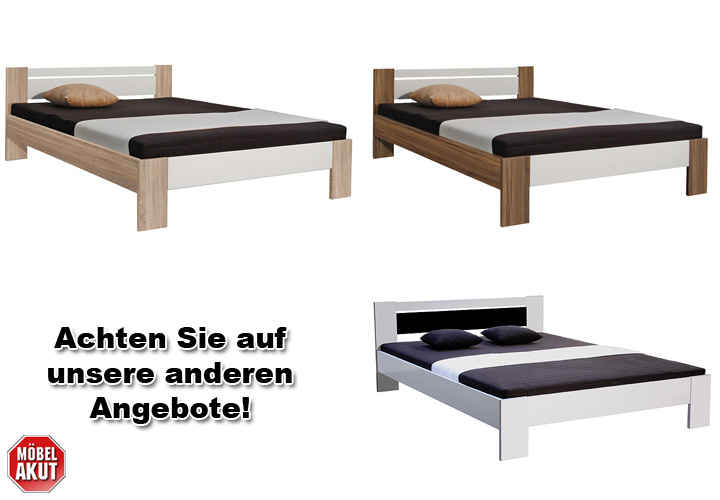 bett vega futonbett wei und schwarz inkl rollrost und matratze 120x200 ebay. Black Bedroom Furniture Sets. Home Design Ideas