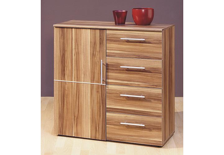 kommode punto 2 sideboard schrank in walnuss dekor 1t rig. Black Bedroom Furniture Sets. Home Design Ideas