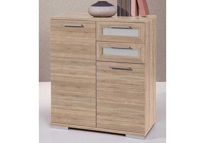 kommode solido 2 highboard in sonoma eiche dekor und wei. Black Bedroom Furniture Sets. Home Design Ideas