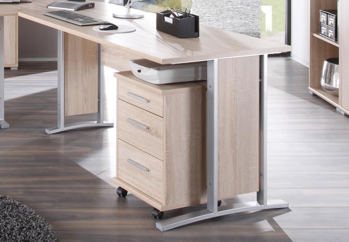 rollcontainer office line biz sonoma eiche. Black Bedroom Furniture Sets. Home Design Ideas