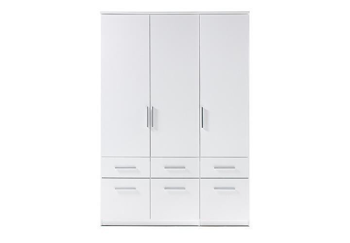 kleiderschrank box 3 schrank dreht renschrank schlafzimmerschrank in wei 135 cm ebay. Black Bedroom Furniture Sets. Home Design Ideas