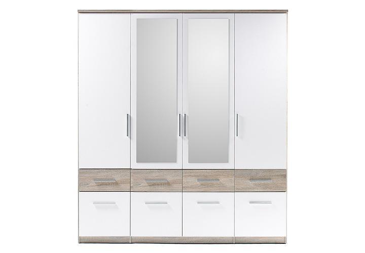 kleiderschrank box 4 wei sonoma eiche 180 cm. Black Bedroom Furniture Sets. Home Design Ideas