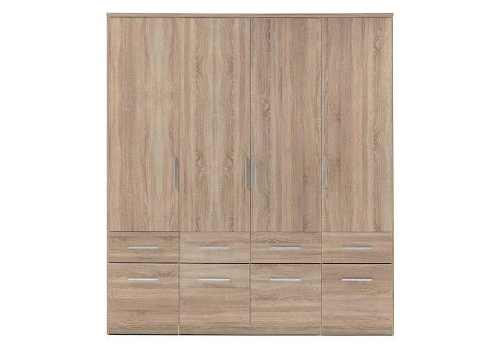 kleiderschrank box 4 sonoma eiche 180 cm. Black Bedroom Furniture Sets. Home Design Ideas