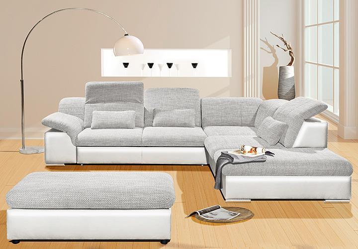 wohnlandschaft move 1 wei grau inkl kissen und funktionen. Black Bedroom Furniture Sets. Home Design Ideas