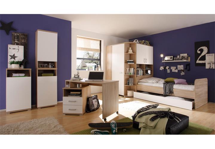 begehbarer eckschrank corner sonoma eiche wei. Black Bedroom Furniture Sets. Home Design Ideas