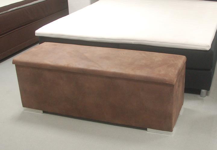 sitzbank truhe chest stoff tobago hellbraun vintage. Black Bedroom Furniture Sets. Home Design Ideas