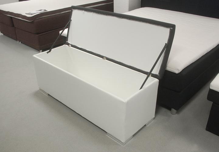 Sitzbank Truhe CHEST Schlafzimmer in weiß und anthrazit