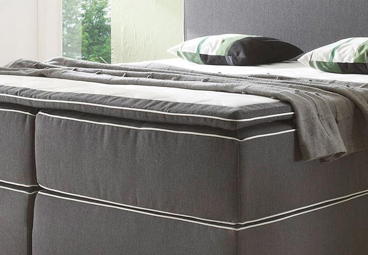 boxspringbett key west anthrazit inkl topper 180x200. Black Bedroom Furniture Sets. Home Design Ideas