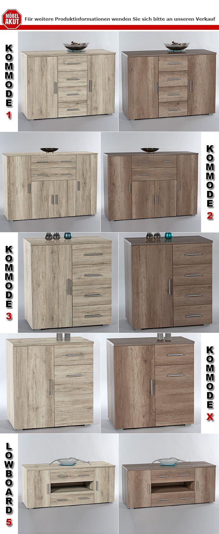 kommode 3 pedro schrank in sanremo eiche hell dekor. Black Bedroom Furniture Sets. Home Design Ideas