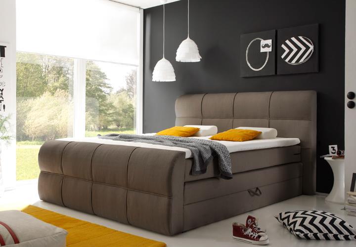 boxspring bett minnesota stone 180x200 cm bettkasten. Black Bedroom Furniture Sets. Home Design Ideas