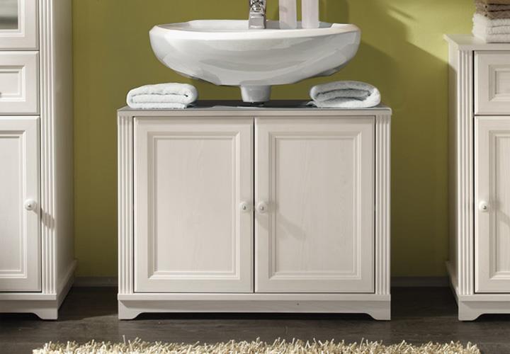 WaschbeckenUnterschrank JASMIN Badezimmer Lärche weiß ~ Waschbecken Jasmin Gebraucht