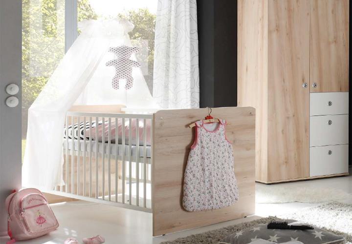 babybett wiki kinderbett in edelbuche und wei 70x140 cm. Black Bedroom Furniture Sets. Home Design Ideas