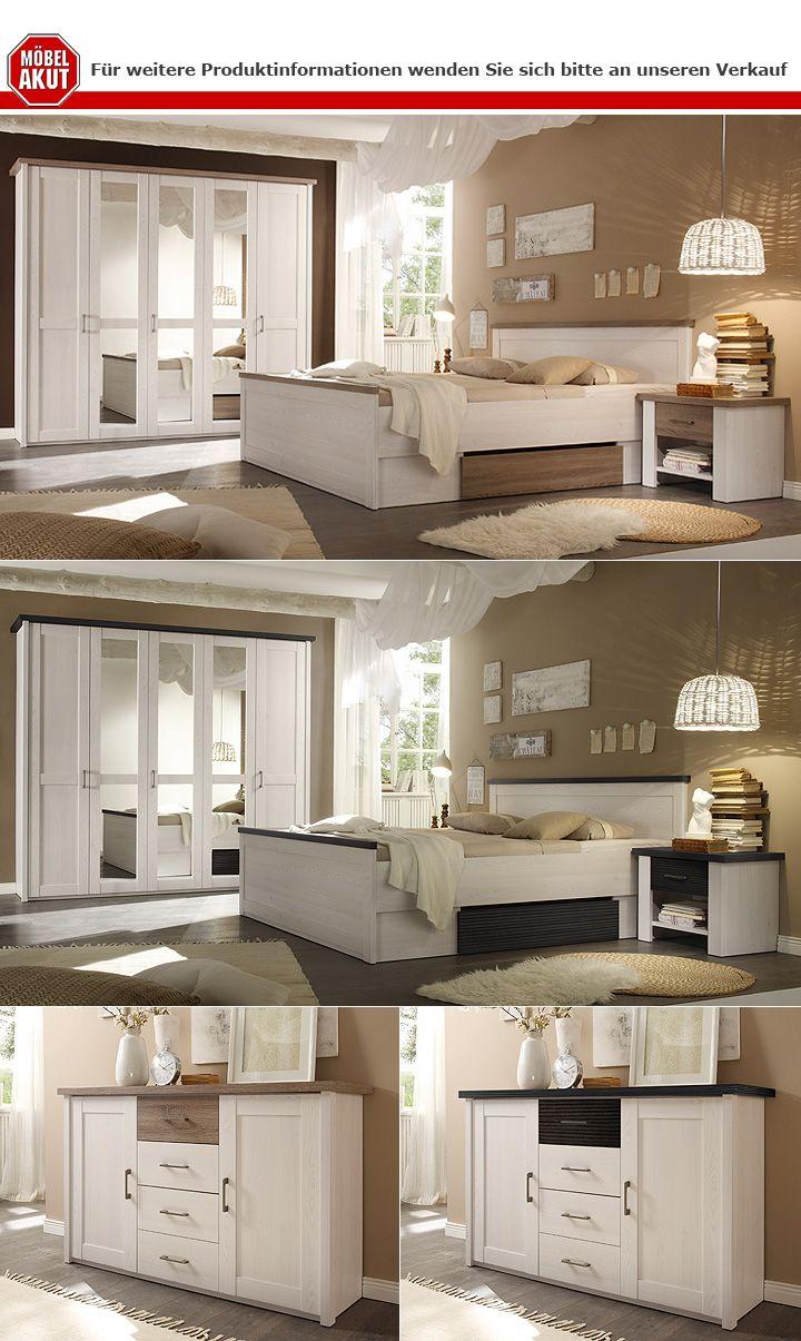 schlafzimmer set luca pinie wei und touchwood 4 teilig