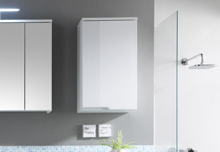 h ngeschrank spice badezimmer bad schrank wei hochglanz. Black Bedroom Furniture Sets. Home Design Ideas