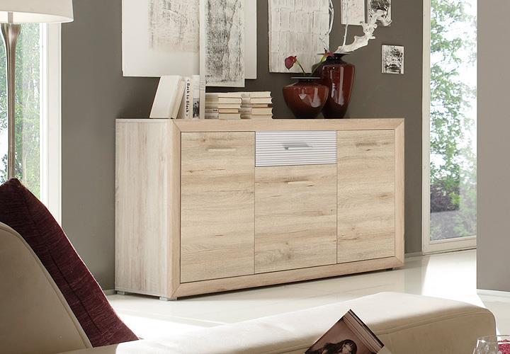 sideboard blues kommode anrichte in edelbuche und wei. Black Bedroom Furniture Sets. Home Design Ideas