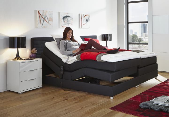 boxspring bett alabama 2 motorrahmen schwarz 180x200. Black Bedroom Furniture Sets. Home Design Ideas