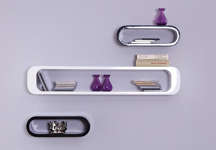 h ngeregal venezia 3 teilig wei und schwarz hochglanz lack. Black Bedroom Furniture Sets. Home Design Ideas