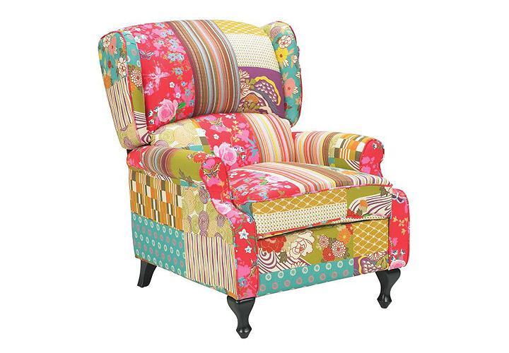 sessel patchwork bunt armlehnsessel polstersessel sitzer. Black Bedroom Furniture Sets. Home Design Ideas