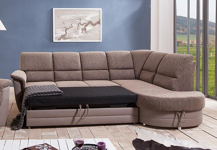 ecksofa monti schlamm braun inkl schlaffunktion ot r. Black Bedroom Furniture Sets. Home Design Ideas