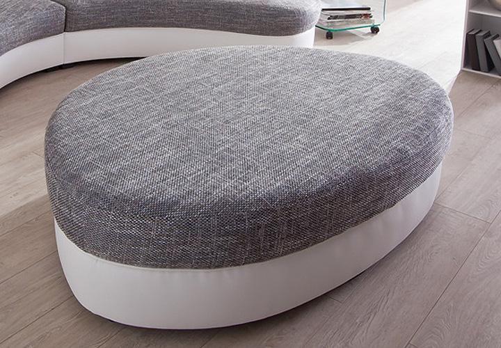 hocker limoncello polsterhocker in wei und creme. Black Bedroom Furniture Sets. Home Design Ideas