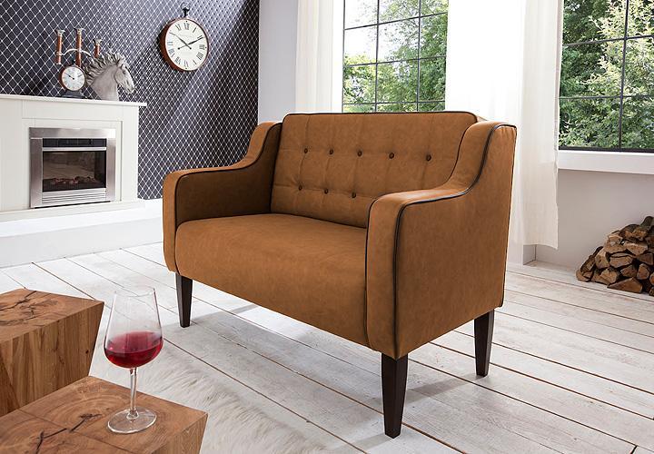 2er k chensofa podo sofa speisesofa polsterm bel in hellbraun ebay. Black Bedroom Furniture Sets. Home Design Ideas