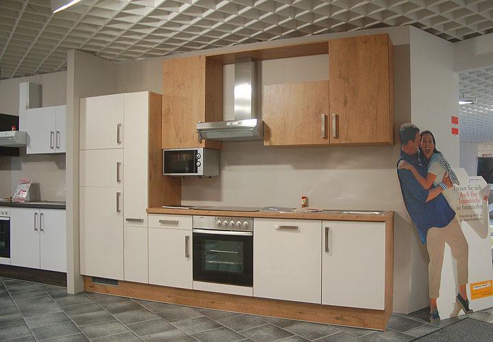 k chenzeile delta einbauk che k che in vanille eiche chrom. Black Bedroom Furniture Sets. Home Design Ideas
