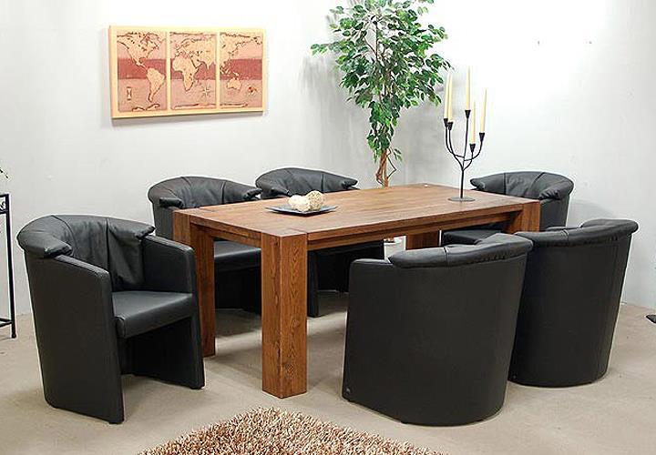 Rolf benz cocktailsessel 6er set stuhl st se 390 in leder for Rolf benz esszimmer