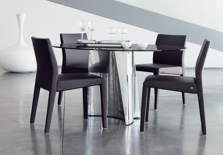 rolf benz 4er set stuhl 677 leder schwarz. Black Bedroom Furniture Sets. Home Design Ideas