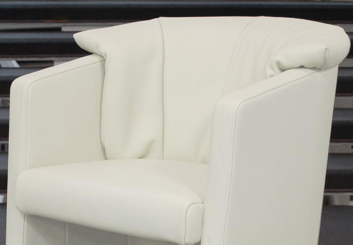 rolf benz st se 390 stuhlsessel wei dickleder. Black Bedroom Furniture Sets. Home Design Ideas