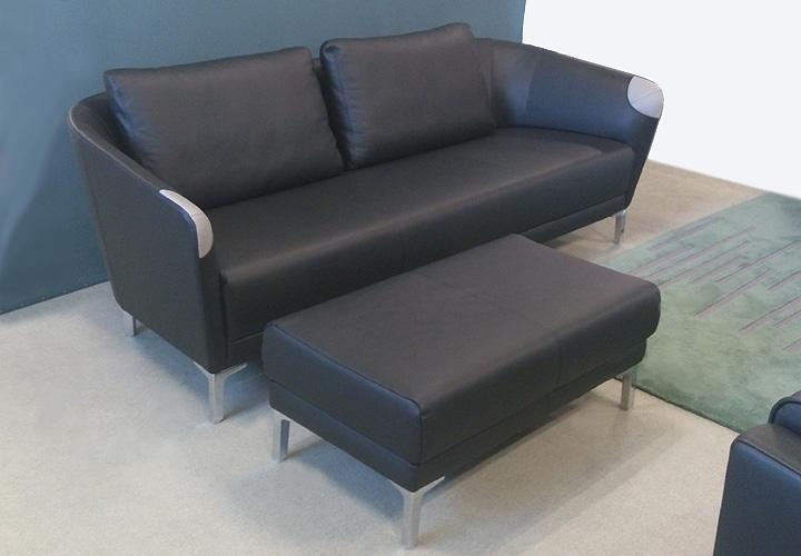 sofa bela 320 rolf benz leder schwarz sob 320 213cm. Black Bedroom Furniture Sets. Home Design Ideas