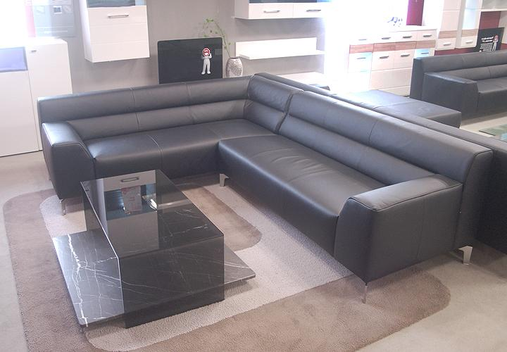 sofa rolf benz neo sob 300 ecksofa links in leder schwarz ebay. Black Bedroom Furniture Sets. Home Design Ideas