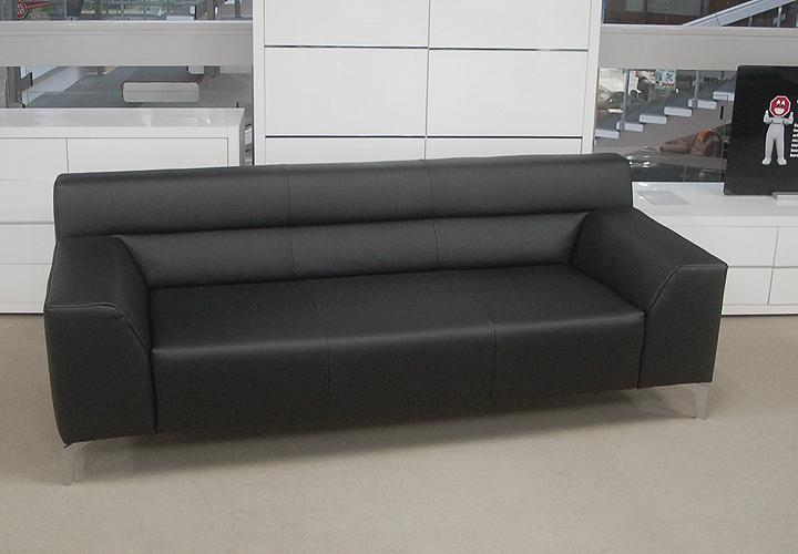 rolf benz sofabank neo sob300 223 leder schwarz. Black Bedroom Furniture Sets. Home Design Ideas