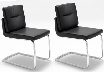 rolf benz freischwinger stuhl stu fs 625 leder schwarz. Black Bedroom Furniture Sets. Home Design Ideas