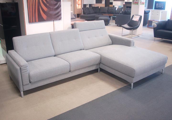 rolf benz ecksofa pronto rechts stoff hellgrau. Black Bedroom Furniture Sets. Home Design Ideas