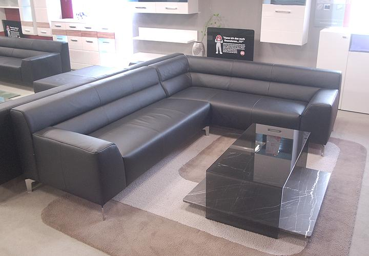 sofa rolf benz neo sob 300 ecksofa rechts in leder schwarz ebay. Black Bedroom Furniture Sets. Home Design Ideas