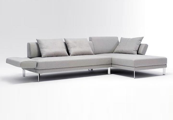 ecksofa sento 433 rolf benz recamiere rechts stoff hellgrau. Black Bedroom Furniture Sets. Home Design Ideas